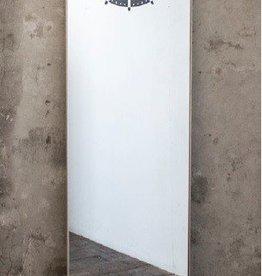 Wall Mirror Clock, Black