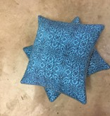 Grey/Blue Patterned Pillow