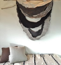 Felted Wool Hanging with Found Wood
