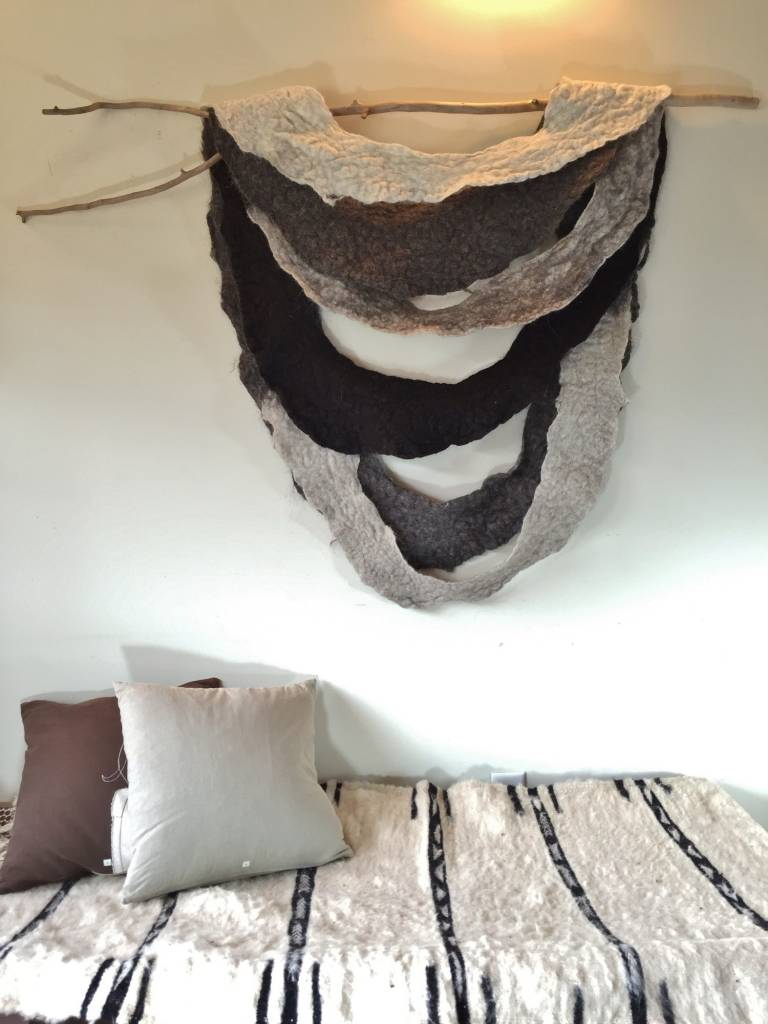 Felted Wool Hanging with Found Wood *CS*