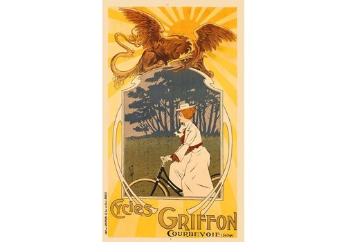 Griffon Cycles Print, Framed