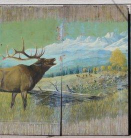 Yellowstone Elk Vintage (4 Panel)