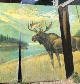 Yellowstone Moose Vintage (3 Panel)