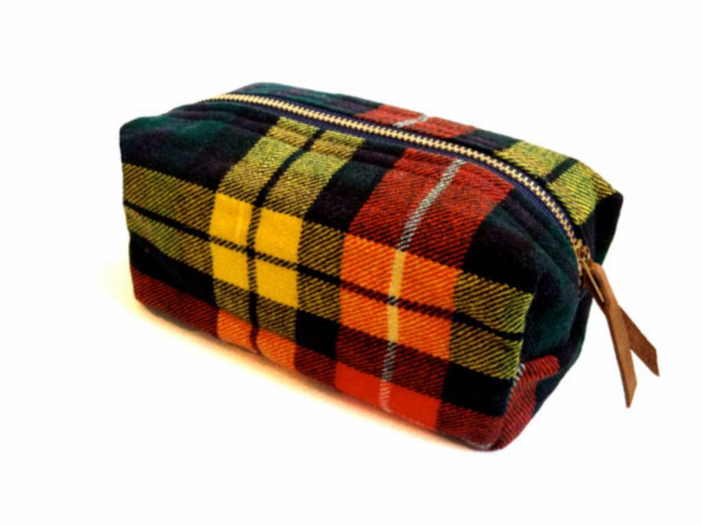 Med Cosmetic Bag - Plaid