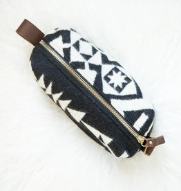 Small Cosmetic Bag - Black & White Pendlton