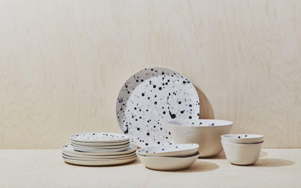 Spotted Dinner Plate - Black