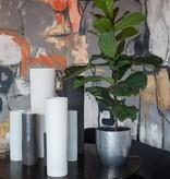 Gun Metal Vase w/ Diagonal Lines Small