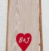 Eco Woodgrain Heart Throw - Monogram MT