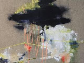 "Still Spring, Acrylic on Raw Linen 30"" x 40"" *CS*"