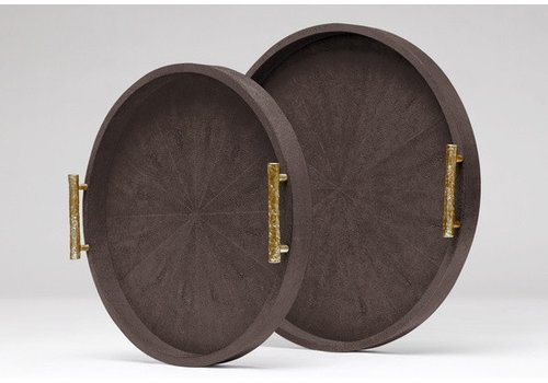 Doris Round Tray Dark Mushroom- Large