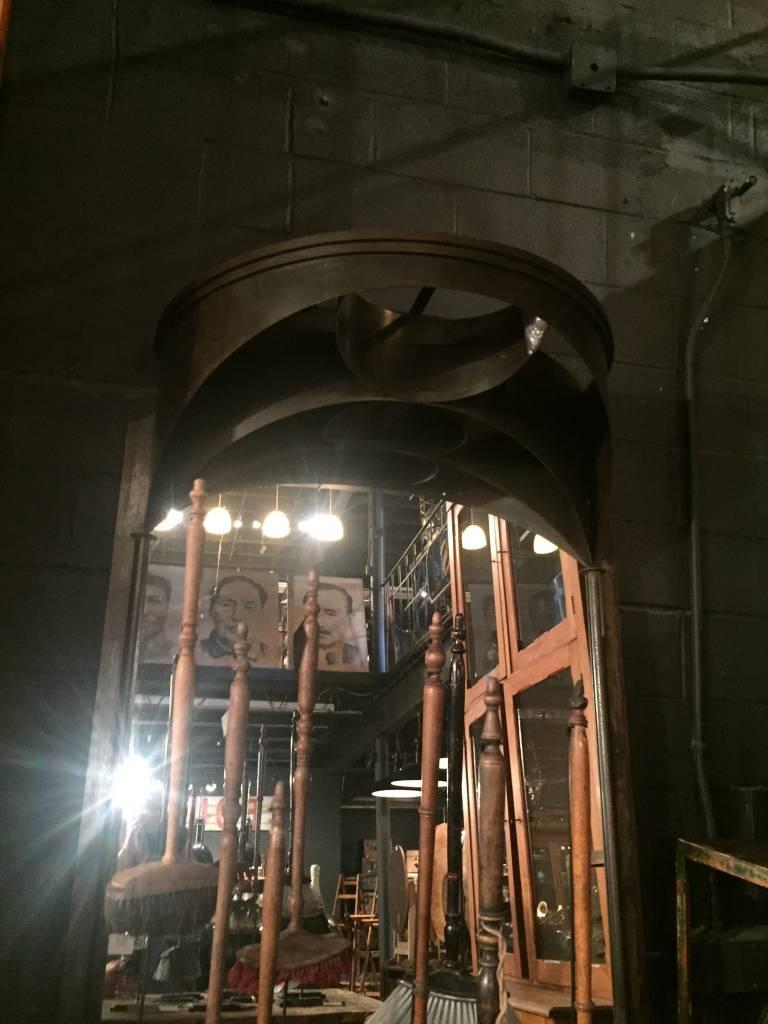 Large Iron Mirror