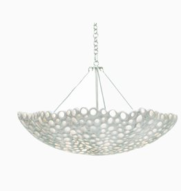 Meri Bowl Chandelier White