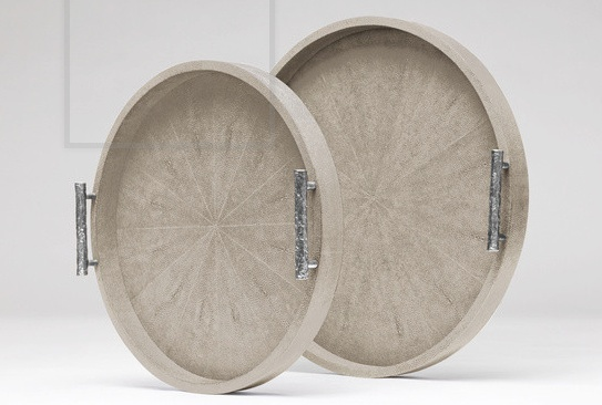 Doris Round Tray Sand-Small