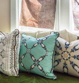 Horse Pattern Pillow White