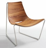 Midj Apelle Black Nickel/Walnut Chair