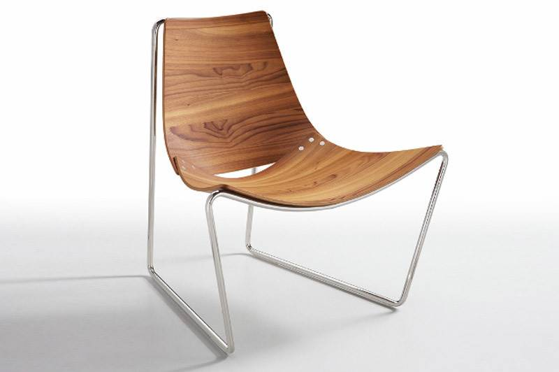Apelle Black Nickel Walnut Chair