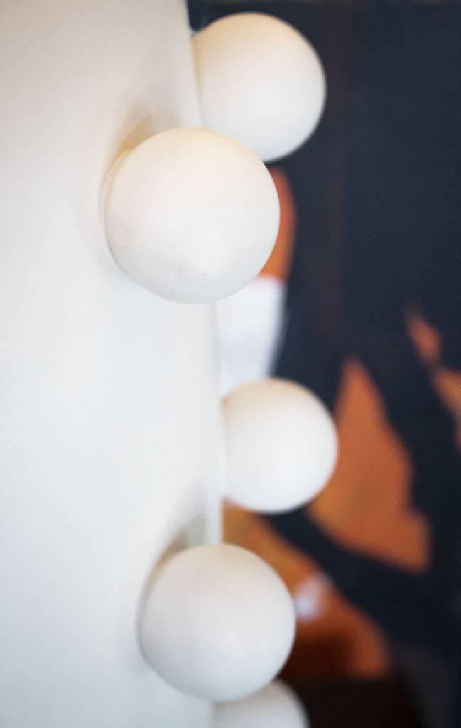 Linden Plaster White Table Lamp