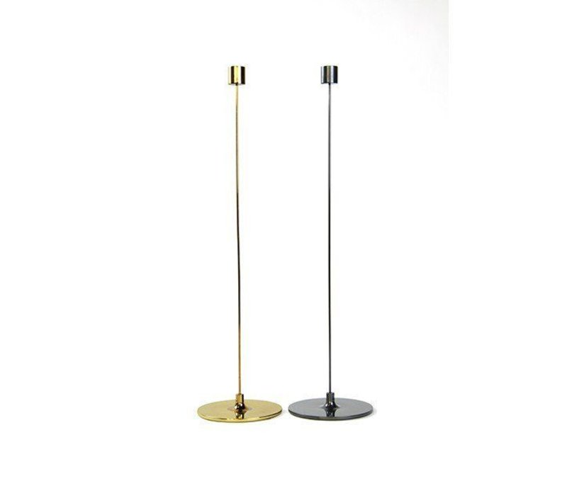 "Pin Candle Stick 12"" Tarnished Brass"