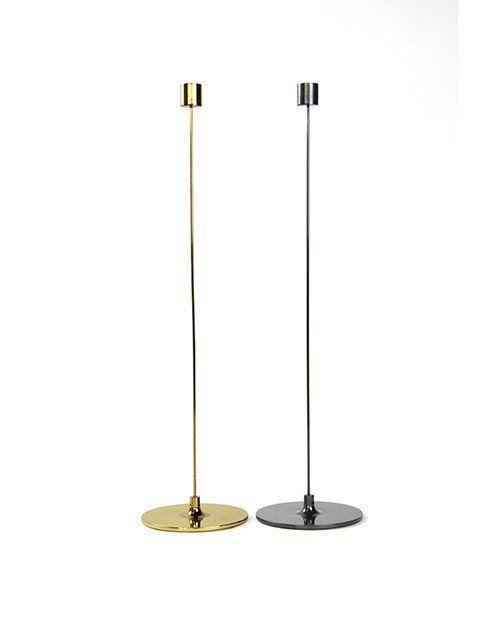 "Pin Candle Stick 12"" Tarnished Brass"