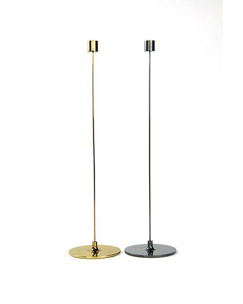 "Pin Candle Stick 20"" Tarnished Brass"
