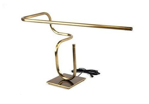 Tube Desk Lamp, Darkened Brass