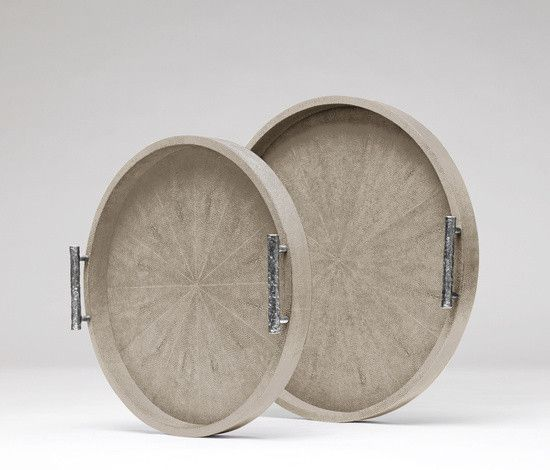 Doris Round Tray Sand- Small