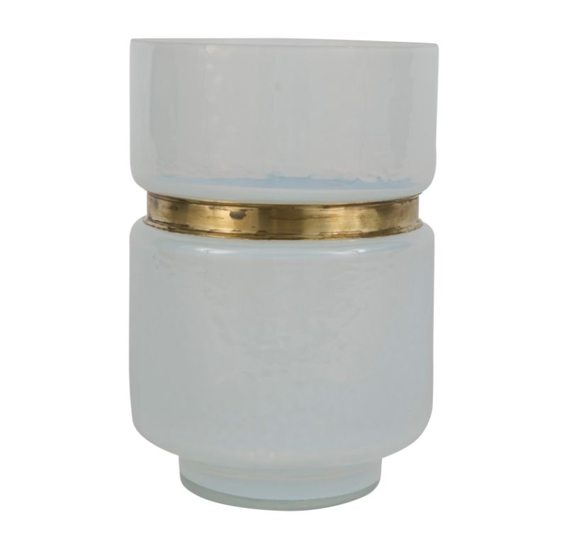 Milk Glass Vase Cylinder