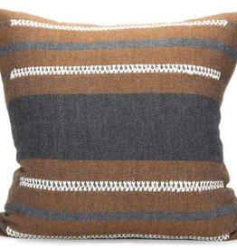 Bau Chief Pillow Charcoal/Cognac 20x20