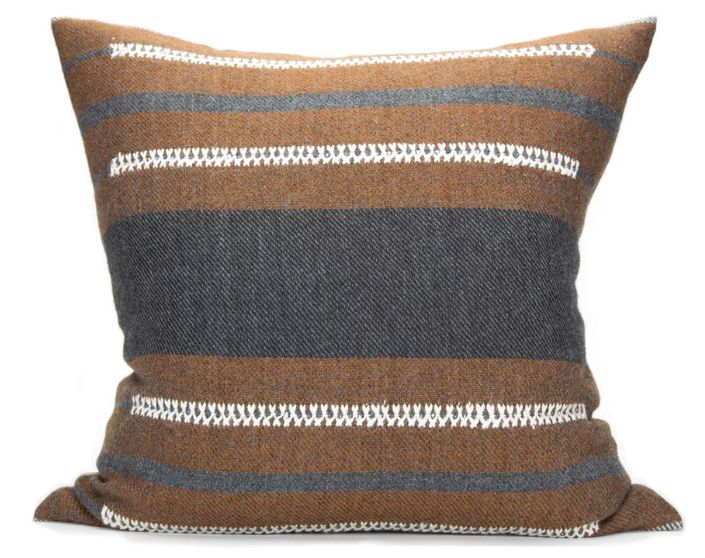 Bau Chief Pillow Charcoal/Cognac 20x20