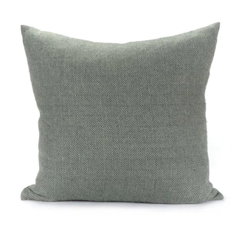 Dakar Pillow 22x22 Celadon/Steel