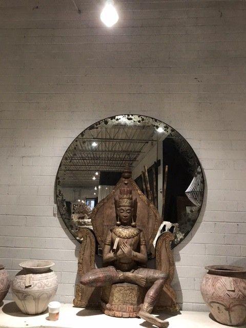 Round Antique Mirror