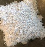 Faux Fur Pillow- White