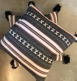 People Pillow w/ Tassel-Multi Color
