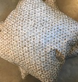 Specks Pillow- Taupe Silver