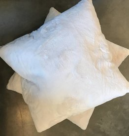 26 x 26 Fluffy Fur Pillow- White