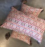 Diamond Pillow w/ Tassel- Multi Color
