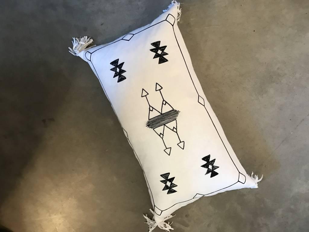 Cactus Pillow- White
