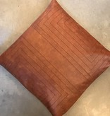 Streams Leather Pillow- Maple