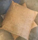 Streams Leather Pillow- Sand