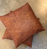 Leather Lines Pillow- Cigar