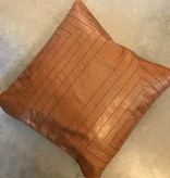 Streams Leather Pillow- Camel
