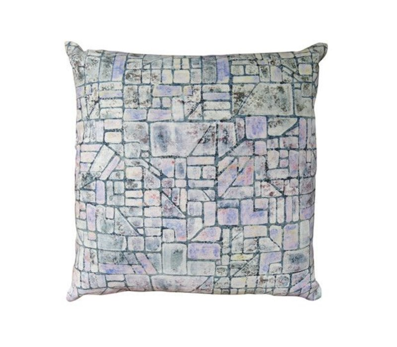 Akkadian Cameo Pillow | Green + Purple + Pink