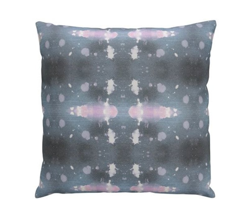 Polaris Beryl Pillow | Gray + Pink