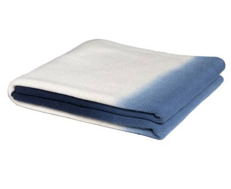 Eco Ombre Blue Throw