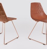 Lucy Side Dining Chair w/ Leather Camel Saddle