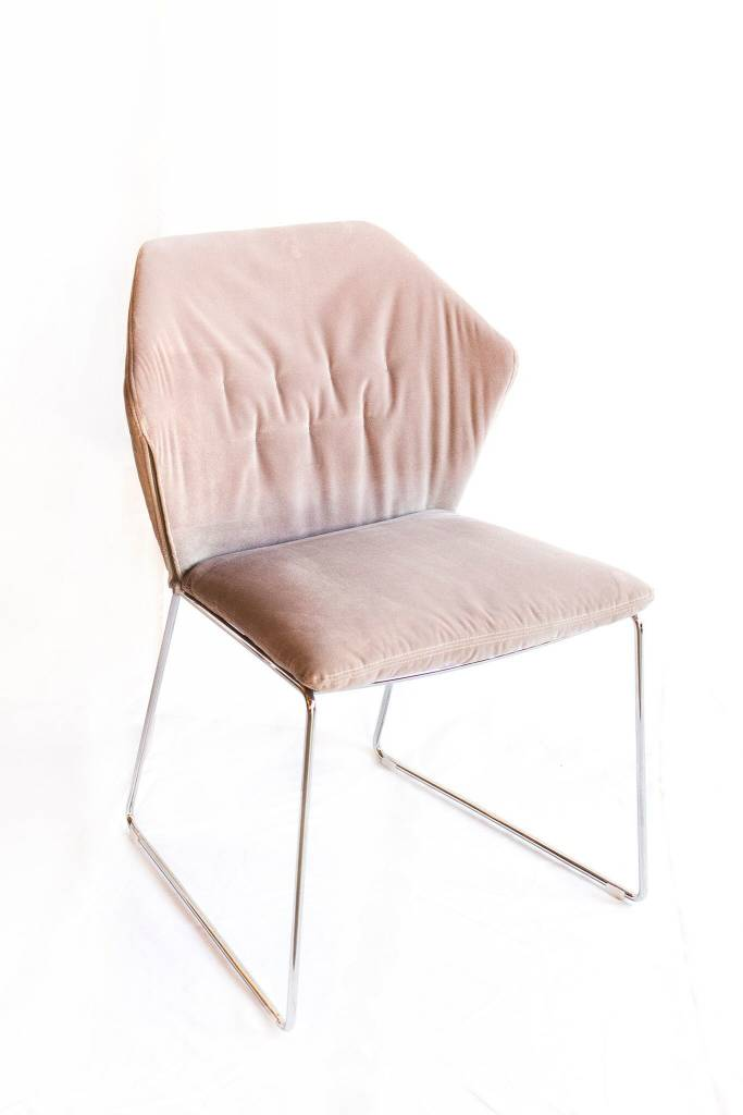 Saba NY Dining Side Chair-Chrome