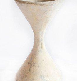 White Hourglass Planter Small