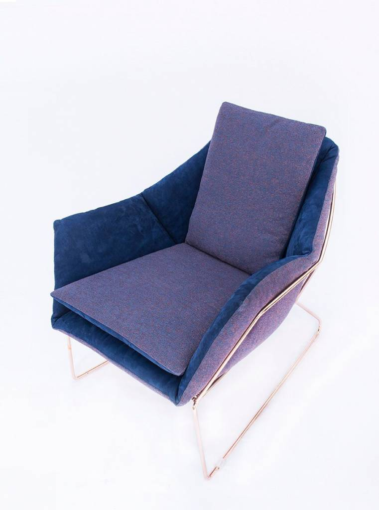 Saba NY Lounge Chair-Copper/Velvet