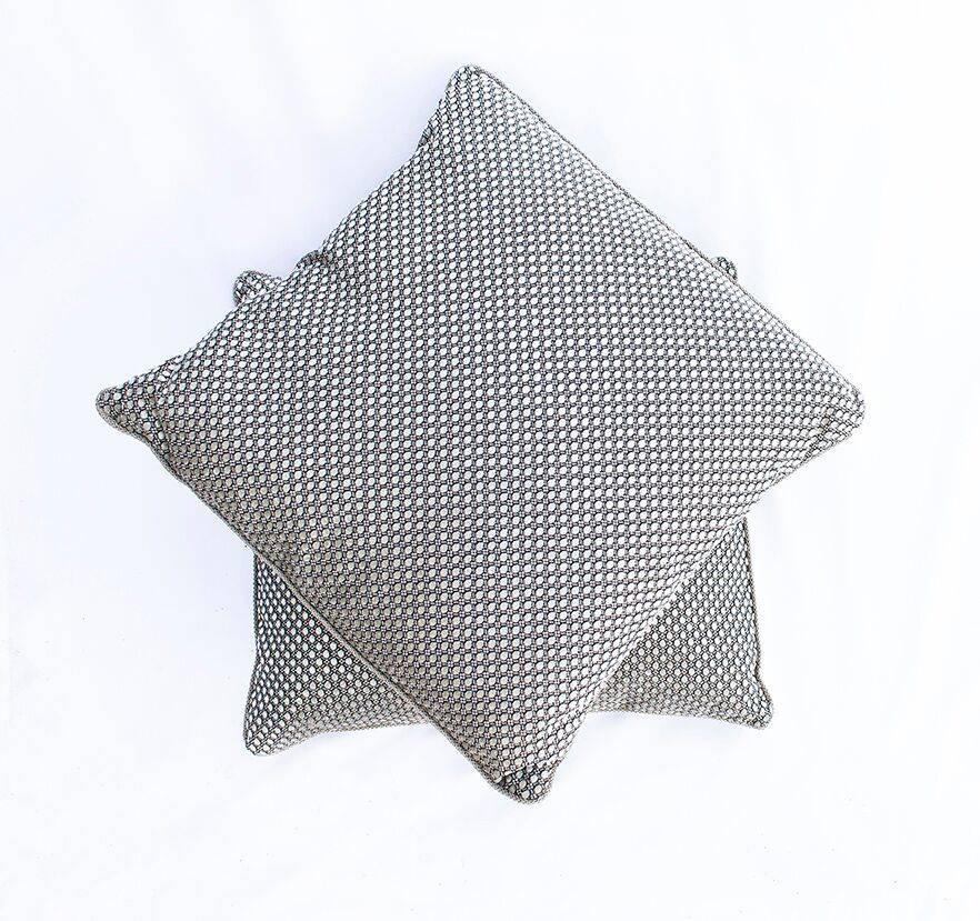 Silver/Brown Circles Pillow
