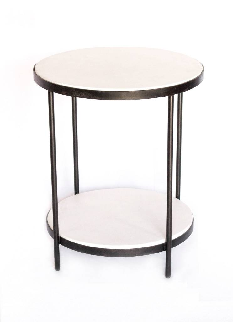 Double White Tables 2 Tier